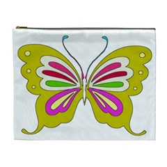 Color Butterfly  Cosmetic Bag (XL)