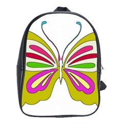 Color Butterfly  School Bag (Large)