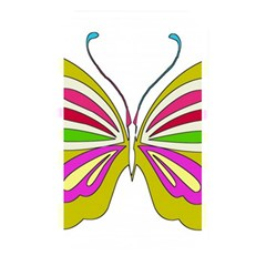 Color Butterfly  Memory Card Reader (Rectangular)