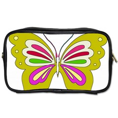 Color Butterfly  Travel Toiletry Bag (Two Sides)