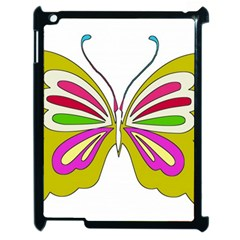 Color Butterfly  Apple Ipad 2 Case (black)