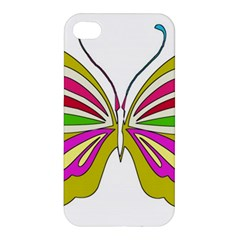 Color Butterfly  Apple Iphone 4/4s Premium Hardshell Case