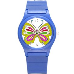 Color Butterfly  Plastic Sport Watch (Small)