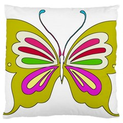 Color Butterfly  Large Cushion Case (Single Sided)