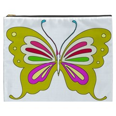 Color Butterfly  Cosmetic Bag (XXXL)