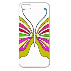 Color Butterfly  Apple Seamless Iphone 5 Case (clear)