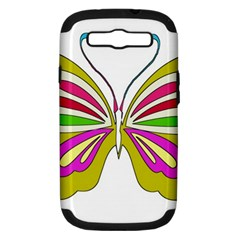 Color Butterfly  Samsung Galaxy S Iii Hardshell Case (pc+silicone)