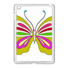 Color Butterfly  Apple iPad Mini Case (White)