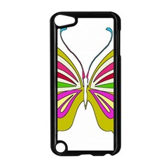 Color Butterfly  Apple iPod Touch 5 Case (Black)