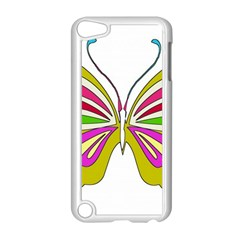 Color Butterfly  Apple Ipod Touch 5 Case (white)