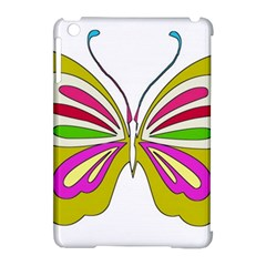 Color Butterfly  Apple Ipad Mini Hardshell Case (compatible With Smart Cover)