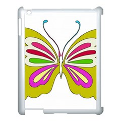 Color Butterfly  Apple iPad 3/4 Case (White)