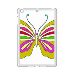 Color Butterfly  Apple iPad Mini 2 Case (White)