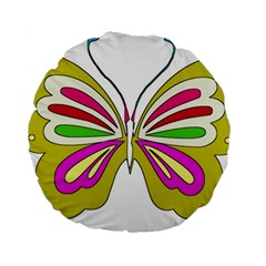 Color Butterfly  15  Premium Round Cushion
