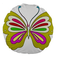 Color Butterfly  18  Premium Round Cushion