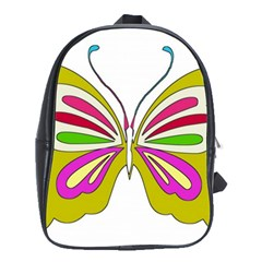 Color Butterfly  School Bag (XL)