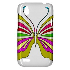 Color Butterfly  HTC Desire V (T328W) Hardshell Case