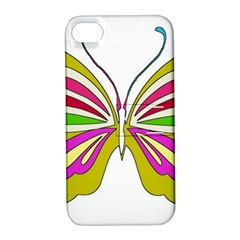 Color Butterfly  Apple iPhone 4/4S Hardshell Case with Stand