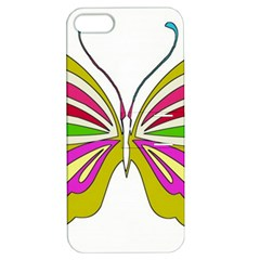 Color Butterfly  Apple Iphone 5 Hardshell Case With Stand