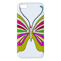 Color Butterfly  Apple Iphone 5 Premium Hardshell Case