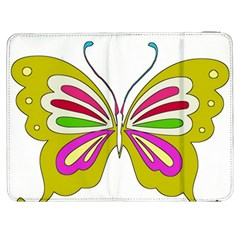 Color Butterfly  Samsung Galaxy Tab 7  P1000 Flip Case