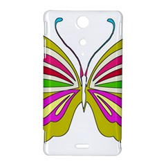 Color Butterfly  Sony Xperia TX Hardshell Case