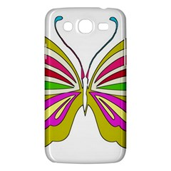 Color Butterfly  Samsung Galaxy Mega 5.8 I9152 Hardshell Case