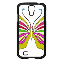 Color Butterfly  Samsung Galaxy S4 I9500/ I9505 Case (Black)