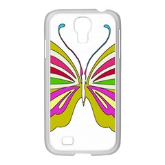 Color Butterfly  Samsung Galaxy S4 I9500/ I9505 Case (white)
