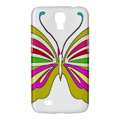 Color Butterfly  Samsung Galaxy Mega 6 3  I9200 Hardshell Case