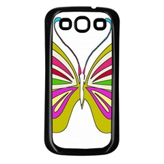 Color Butterfly  Samsung Galaxy S3 Back Case (black)