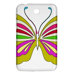 Color Butterfly  Samsung Galaxy Tab 3 (7 ) P3200 Hardshell Case