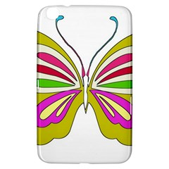 Color Butterfly  Samsung Galaxy Tab 3 (8 ) T3100 Hardshell Case