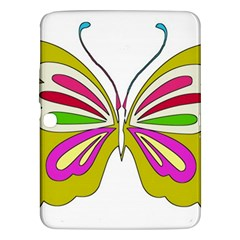 Color Butterfly  Samsung Galaxy Tab 3 (10.1 ) P5200 Hardshell Case