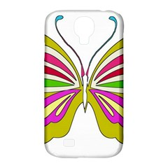 Color Butterfly  Samsung Galaxy S4 Classic Hardshell Case (pc+silicone)