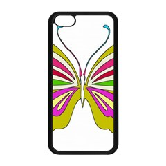 Color Butterfly  Apple Iphone 5c Seamless Case (black)