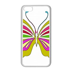 Color Butterfly  Apple iPhone 5C Seamless Case (White)