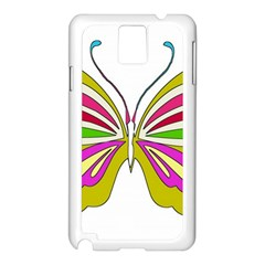 Color Butterfly  Samsung Galaxy Note 3 N9005 Case (white)