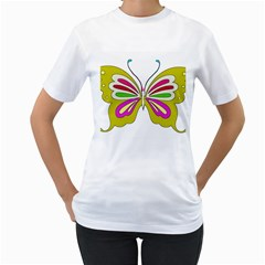 Color Butterfly  Women s T-Shirt (White)