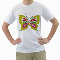 Color Butterfly  Men s T-Shirt (White)