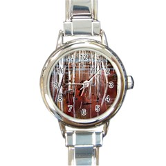 Swamp2 Filtered Round Italian Charm Watch