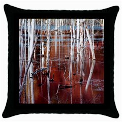 Swamp2 Filtered Black Throw Pillow Case