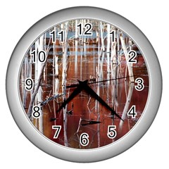 Swamp2 Filtered Wall Clock (Silver)