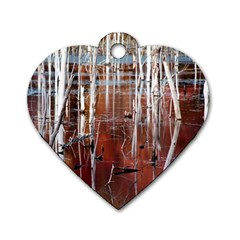 Swamp2 Filtered Dog Tag Heart (two Sided)
