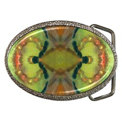 Behind The Cloth Belt Buckle (oval)