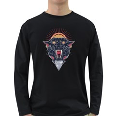 Flash Panther Men s Long Sleeve T-shirt (Dark Colored)