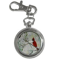 Sweet Red Cardinal Key Chain Watch