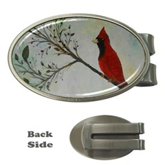 Sweet Red Cardinal Money Clip (Oval)