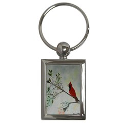 Sweet Red Cardinal Key Chain (Rectangle)