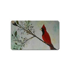 Sweet Red Cardinal Magnet (Name Card)